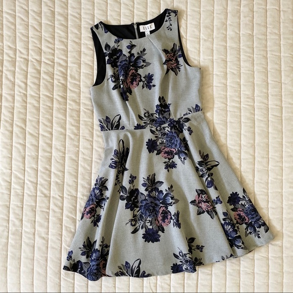 Elle Dresses & Skirts - ELLE Floral Fit-and-Flare Dress